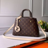 Wholesale braid ends for sale - Group buy New monogrammed canvas A high end quality classic art with top class leather braided key boxes decorated with an oversized space