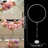 Wholesale arches balloons resale online - 163x73 cm Circle Balloon Arch Frame Balloons Stand Holder Kit Wedding decorations Ba loon Birthday Party Baby Shower Ballon Decor