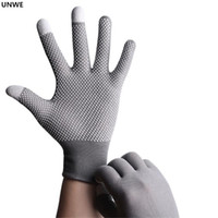 Wholesale sports gloves thin resale online - Breathable Anti skid GEL Touch Screen Gloves Summer Thin Riding Driving Mountaineer Wrist Gloves Men Women Sport Running