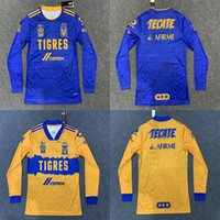 Wholesale long sleeve mx jerseys for sale - Group buy Long sleeves Mexico UANL Tigres Soccer Jersey Stars C SALCEDO GIGNAC VARGAS PIZARRO football jersey Camiseta de Tigres UANL Liga MX