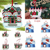 Wholesale tree outdoor decor for sale - Group buy Merry Christmas Decorations Ornament Christmas Tree Hanging Pendant Resin Snowman With Mask Family Outdoor Decor GWB1860