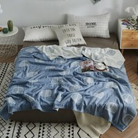 Wholesale cotton comforters for kids resale online - High quality cotton gauze blanket tree bird blandets soft bed linen thin comforter for kids Adults Japanese home textile