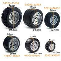 Wholesale car wheel tire parts for sale - Group buy Technic Tire Wheel Hub Diy Bricks Car Truck Construction Building Blocks Tech Parts bbyWhR homebag