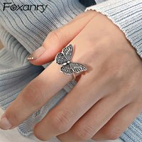 Wholesale 925 butterfly rings for sale - Group buy Foxanry Sterling Silver Couples Rings for Women Vintage Handmade Butterfly Trendy Elegant Thai Silver Party Jewelry Gifts