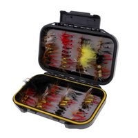 Wholesale trout fishing lures resale online - 72pcs Fly Fishing Flies Trout Lures Hooks Dry Wet Artificial Baits with Box