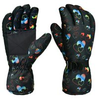 Wholesale snow gloves men resale online - Brand Men Women Ski Gloves Waterproof Windproof Pink Snowboard Skiing Gloves Thermal Warm Outdoor Snow Mittens for Boys Girls