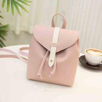 Wholesale knapsack bag for girls for sale - Group buy Women s Mini Backpack Pu Leather Kawaii Bookbag Cute Graceful Satchel Small School Bags For Girls Knapsack Sac T1P