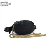 Wholesale small bag packs resale online - Macaroon Pu Leather Brand Handbags Women Bags Designer Fanny Packs Famous Waist Bags Handbag Lady Belt Chest bag