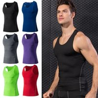 Wholesale basic apparel resale online - Men Sports Tank Tops Running Fitness Basic Solid Quick Dry Vest Athletic Apparel SPSYL0002