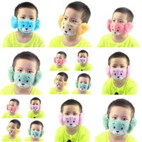 Wholesale teddy bear face resale online - 2 Kiddies In With Reusable Teddy Bear Kiddies Warm Pink Face Mask Oogd Content Bright Teddy Kids Plush Kids Wp Wi Ddhjl