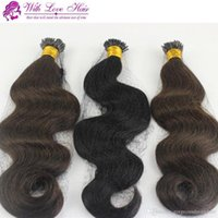 1 Bundles Pack 8-30'' Double Drawn Keratin Fusion Stick Tip I-Link Hair Extensions Body wave Indian Remy Straight I Shape I-Tip
