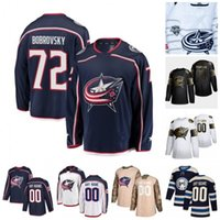 Wholesale foligno jersey for sale - Group buy Custom Columbus Blue Jackets Artemi Panarin Sergei Bobrovsky Joonas Korpisalo Nick Foligno Cam Atkinson Brandon Dubinsky Hockey Jersey
