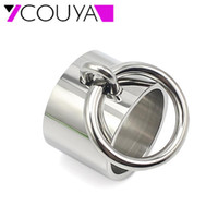 Wholesale sister rings for sale - Group buy COUYA Stainless Steel Circle Inlay Punk Rock Cool Girl Friendship Rings Christmas Gift To Sister Prevent Allergy