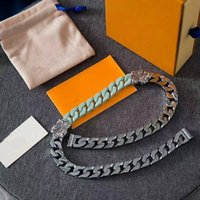 2020 French Designed Luxury Hip hop Street men and women Bracelets Sculpture ceramics 316L titanium steel Splicing Necklace Jewelry