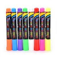 Wholesale chalk markers resale online - Brand PC Highlighter Fluorescent Liquid Chalk Marker Pen for LED Writing fluorescent Board pen