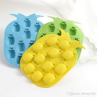 Wholesale pineapple ice mold resale online - Silica Gel Ice Cube Tray Fruit Strawberry Pineapple Banana Ice Lattice Maker Soft Non Toxic Mold For Summer Home Kitchen hy R
