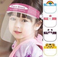 Wholesale full face masks designs for sale - Group buy Children Cartoon Face Shield Mask Designs PET Anti Fog Full Face Cover Isolation Visor Anti Spitting Safety Kids Party Mask EWE1202