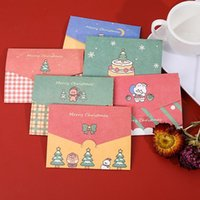 Wholesale greet cards resale online - Christmas Card Cartoon Merry Christmas Paper Envelope With Message Card Greeting Card Letter Stationary Gift DHA1979