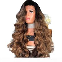 Wholesale amazon wigs resale online - No Bad Smell Amazon Hot Wig European and American Fashion Women Wish Long Curly Hair Chemical Fiber Headgear Turecolor Wig