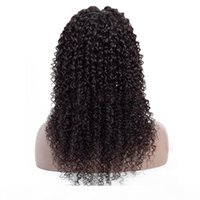 Wholesale kinky curly lace front closure resale online - Brazilian Virgin Kinky Curly Human Hair Lace Front Wigs Kinky Curly Hair Pre Plucked x4 Lace Closure Wigs Natural Hairline for Black Women