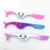 Rose Gold Tweezer Fake Eye Lash Applicator Eyelash Extension Clip Clamp For Magnet Eyelashes Stainless Steel Makeup Tool