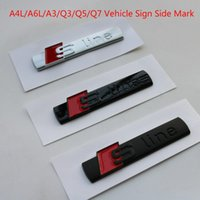 Wholesale audi sports car for sale - Group buy Audi A4l A6l A3 Q3 Q5 Q7 Car Standard Modified Sline Leaf Board Side Standard Stickers Car Sports Car Stickers