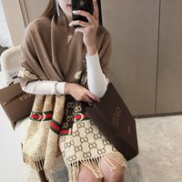 Wholesale cotton winter shawl resale online - luxurys designers bags New Fashion Winter Unisex Cashmere Scarf For Men and Women Oversized Classic Check Shawls echarpe scarfs