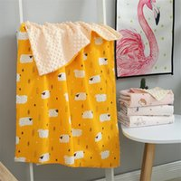 Wholesale children quilt set for sale - Group buy Swaddling Thin Sunmmer Newborn Muslin Gauze Baby Soothing Children Blanket Bedding Set Cotton Quilt Y201009