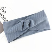 Wholesale yoga works resale online - 6pcs Sports Headband Cross Striped Head Wrap Hair Band Sweatbands for Tennis Running Working Out Karate Yoga Athletics