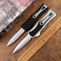 Wholesale angela resale online - Goddess Angela CF D2 double edged tactical automatic folding knife sharp outdoor jungle adventure camping self defense hunting tool knife