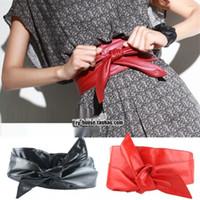 Wholesale pink suspenders belts resale online - qBinv Korean strap women s fashion casual wide Suspender suspender skirtsling bow skirt belt sling style skirt decorative wide belt ribbon Wv