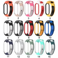 Wholesale xiaomi mi wrist band for sale - Group buy Smart Watch Bracelet For Xiaomi Mi Band Strap Silicone Wrist Double Color Wrist Sports For Mi Band5 Watch band Watch Bracelet