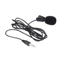Wholesale HOT MINI Professionals mm Jack Clip on Lapel Microphone Mini Mic For PC Laptop Lound Speaker Dropshipping