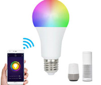 leuchtet smart groihandel-Smart LED-Birnen WiFi LED-Birnen-Licht 9W RGB Magic Light Birnen-Lichter Kompatibel mit Alexa Google Smart Home