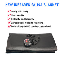 Wholesale fir heating resale online - NEW Fir Sauna Far Infrared Thermal Body Slimming Sauna Blanket Heating therapy Slim Bag SPA slimming Body Detox Machine