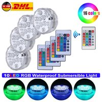 Wholesale led lights for lamp vase for sale - Group buy 4pcs RGB Submersible Light Remote Control LED Underwater Night Lamp for Aquarium Vase Garden Swimming Pool Light Y200917