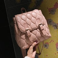 Wholesale backpacks for womens resale online - womens Backpack New Fashion Casual PU Leather Female feminine backpack for teenage school bag solid Small backpack