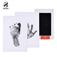 Wholesale pad print ink for sale - Group buy Baby Footprints Paper Handprint Ink Pad Set Safe Non toxic Newborn Imprint Hand Inkpad Baby Paw Print Pad New Infant Souvenirs