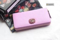 Wholesale crystal bow phone resale online - joyjoy010 LNSO Spring new red crystal zipper wallet pink Women Long Wallet Chain Wallets Purse Clutches Evening Key Mini Belt Bags