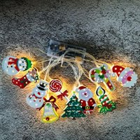Wholesale tree 3m resale online - Christmas LED Light String Cartoon Xmas Tree Motif m LED Christmas Outdoor Lighting Party Decoration Styles EWA1865
