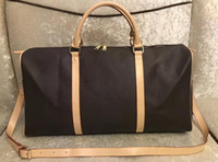 Wholesale luggages resale online - Hot sell new black men and women style travel bags Suitcases Luggages silver zipper with lock dust bag M41414 color for pick