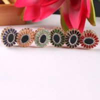 Wholesale magnetic brooches resale online - QwJ1m Silk Scarf accessories round creative magnetic button stone Button stone brooch women s fashion diamond brooch