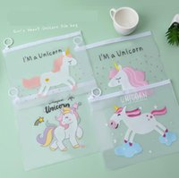 Discount old pencils Unicorn Designs Stationary Bag Transparent Pens Bag Women Plastic Pencil Bag Travel Make Up Beauty Toiletry Bags Female Makeup Organizer