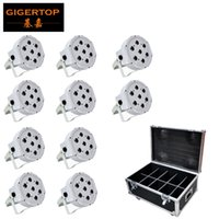 Wholesale degree life online – custom 10in1 Flightcase Packing White Shell x12w Rgbw Plastic Flat Led Par Light Dmx512 Control Power In Out Socket Real Power Long Working Life