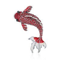 Wholesale fish pins for sale - Group buy 2020 Fish Brooch for Party Fashion Rhinestone Pins and Brooches for Women Cute Enamel Brooches Badge for Girls