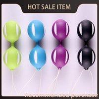 Wholesale female orgasm machine resale online - for Exercise Women Retail Kegel Vaginal Tight Toys Vibrators Orgasms Massager Smart Fun Colors Machine Ball With Female Female Box Hcdqp