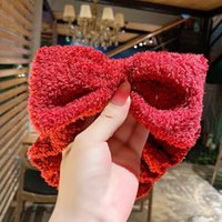 Wholesale white butterfly hair accessories for sale - Group buy Hair Cute Korean Sweet Celebrity Accessories Internet For Super Band Hair Face washing Wide Mask Band Fairy Butterfly New Edge Bowknot Scdq
