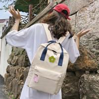 Wholesale school bag flower korean style for sale - Group buy 2020 Fashion Korean Style Women Backpack Flower Decoration Teenage Girl School Bag Waterproof Female Travel Backpack Bookbag