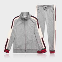 008SS year sportswear jacket suit fashion running sportswear Medusa men's sports suit letter printing clothing tracksuit sports