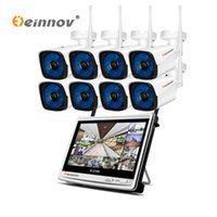 Wholesale wifi camara for sale - Group buy Einnov P MP Wireless Security CCTV IP Camera System NVR inch LCD Monitor Ch CH Camara wifi Video Surveillance Kit P2P